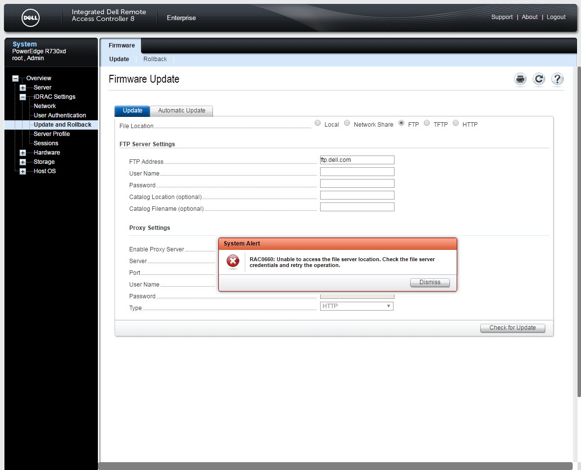 ftp dell com direct iDRAC update – MAJ « Hypervisor fr